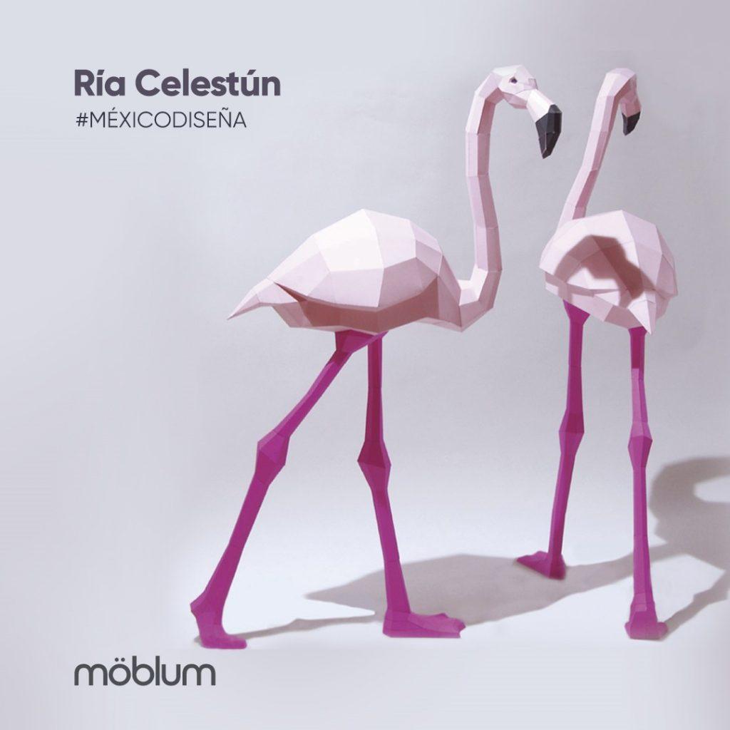 möblum-Conoce_la_colección_México_Diseña-Ría_Celestún-colección-diseños-figuras-papel-productos-artesanales-color
