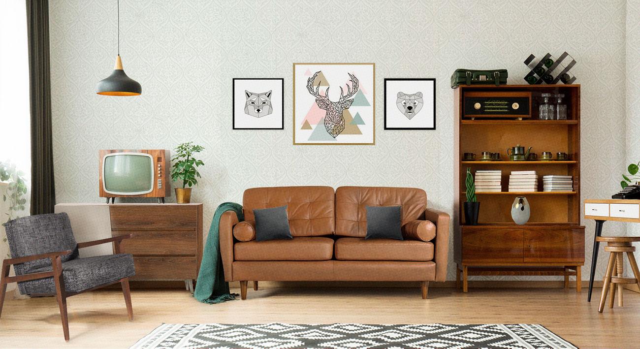 möblum-decoración_inspirada_en_los_años_50s-decoración-color-estilo-negro-dorado-madera-espacio(1)