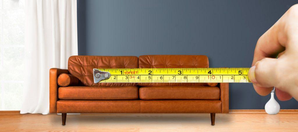 Cómo medir muebles y el espacio disponible