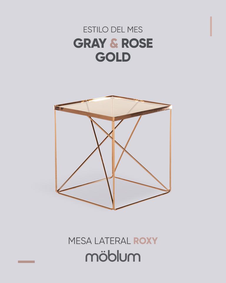 Gray & rose gold