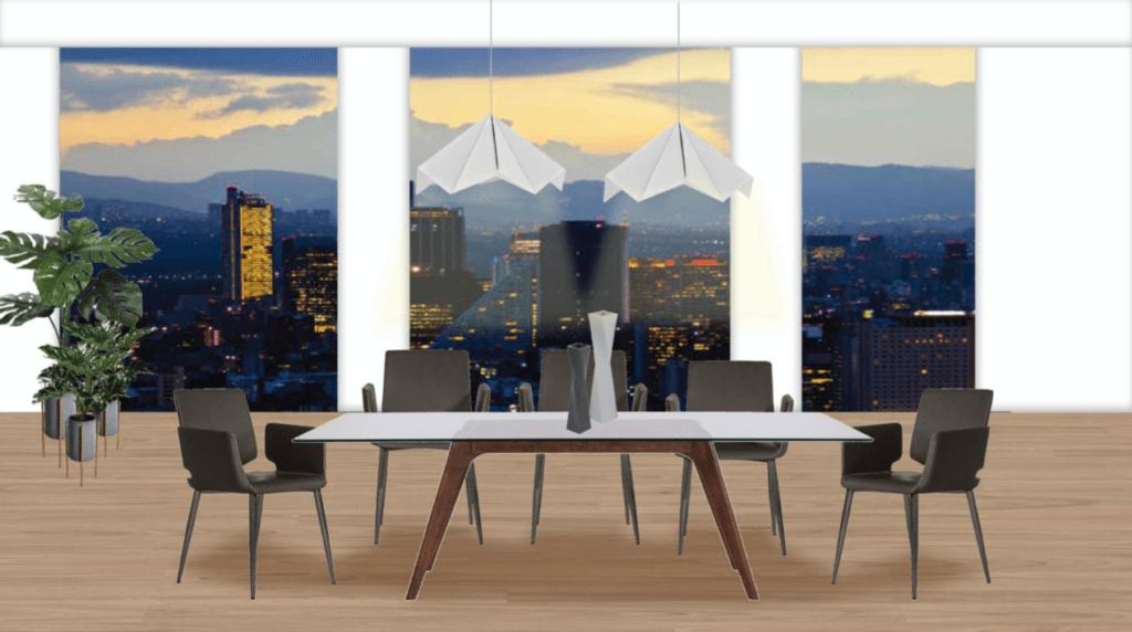Amueblado de un penthouse al estilo moblum