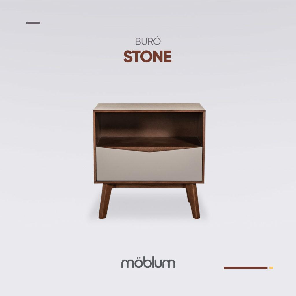 Estilo del mes brown loft buró Stone, sillón Rena, cama Norton